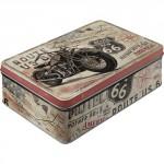 Boîte en métal plate Vintage : Route 66