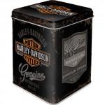 Boîte à thé (ou multiusage) métallique carrée : Harley-Davidson