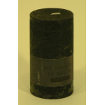 Bougie cylindrique rustique pilier 12cm aspect givré couleur gris foncé