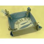 Panier à pain 100% coton bleu décor poisson
