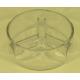 Plat apéritif à 3 compartiments en verre