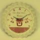 Horloge métal décor pot de confiture