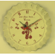 Horloge métal décor cerises