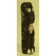 Chien en bois brun décor chocolat 30 cm