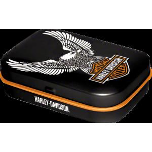 Boîte à pilules harley-davidson : logo de la marque avec l'aigle