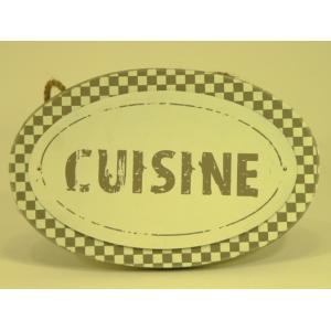 Plaque de porte en bois et m tal cuisine suspendre deco envie com - Plaque deco cuisine ...
