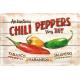 Plaque en métal 20 X 30 cm : Chili peppers