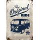 Plaque en métal 20 X 30 cm VW : The original ride