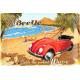 Plaque en métal 20 X 30 cm VW : Beetle