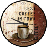 Horloge murale : Best coffee