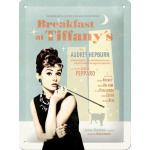 Plaque en métal 15 X 20 cm : Audrey Hepbrun