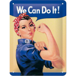 Plaque en métal 15 X 20 cm : We can do it