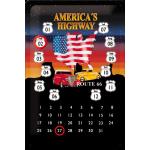 Plaque en métal 20 X 30 cm Route 66/ROAD 66 : Calendrier perpétuel