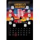 Plaque en métal 20 X 30 cm Route 66 : calendrier perpétuel drapeau américain