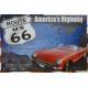 Plaque en métal 20 X 30 cm Route 66