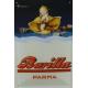 Plaque en métal 20 X 30 cm Pâtes Barilla - Bébé et coquillage