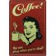 Plaque en métal 20 X 30 cm Coffee - Café
