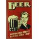 Plaque en métal 20 X 30 cm Beer - Bière