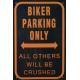 Plaque en métal 20 X 30 cm Biker parking only - Parking réservé aux motos