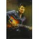 Plaque en métal 20 X 30 cm Elvis Presley et sa guitare