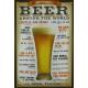 Plaque en métal 20 X 30 cm Beer around the world - Bière autour du monde