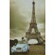 Plaque en métal 20 X 30 cm Citroën 2 CV et tour Eiffel