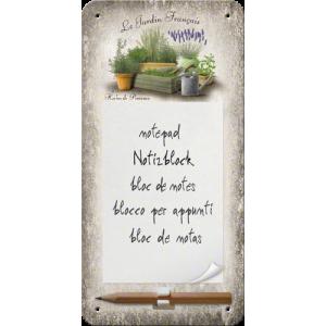 Bloc-notes aimanté : jardin français