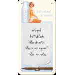Bloc-notes aimanté : soyez naturel et buvez du lait