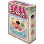 Boîte en métal rectangulaire Petits Gateaux - Fairy Cakes