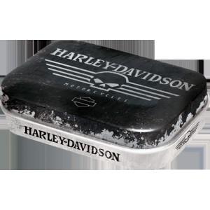 Boîte à pilules Harley-Davidson : Tête de mort