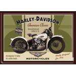 Plaque en métal 14 X 10 cm Harley-Davidson : Knucklehead