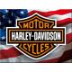 Magnet 8 x 6 cm Harley-Davidson : Drapeau américain (USA)