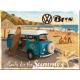 Magnet 8 x 6 cm VW Volkswagen Bus Bulli à la plage