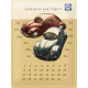 Plaque en métal 30 X 40 cm Calendrier perpétuel : VW Volkswagen duo Coccinelles