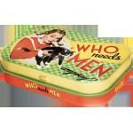"""Boîte à pilules Vintage années 50 : """"Qui a encore besoin des hommes ?"""""""